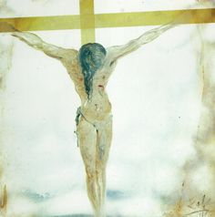 Untitled (Apocalyptic Christ; Christ with Flames) - Salvador Dali