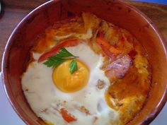 Baked stew with egg