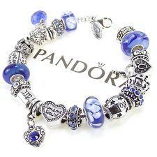 Authentic Pandora Bracelet September Birthday Sapphire Blue Zodiac Virgo Love