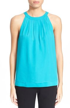 DIANE VON FURSTENBERG 'Parvay' Sleeveless Silk Top. #dianevonfurstenberg #cloth #tank #cami #shell
