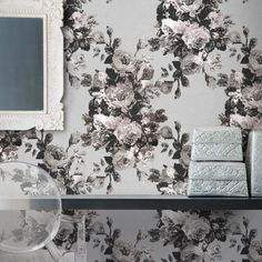 Luxurious modern wallpaper by Scandinavian design company, FEATHR, is now available at The Pattern Collective Modern Floral Wallpaper, Shabby Chic Wallpaper, Floral Wallpapers, Zen, Lace Background, Organic Plants, Organic Gardening, Gardening Tips, Natural Garden