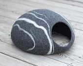 Felted Wool Cat Cave - rock look - $79.00 : The Wooly Thread!, Wool Gives That Warm Feeling