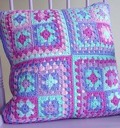 Love the colors and use of the granny squares...awesome!