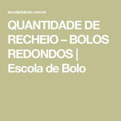 QUANTIDADE DE RECHEIO – BOLOS REDONDOS | Escola de Bolo