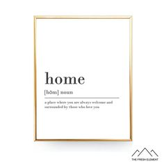 Home Definition Wall Art Print is a High Quality INSTANT DIGITAL DOWNLOAD which can be printed in many standard frame sizes *Please Note: This Is A Digital Download & No Physical Print Will Be Mailed To You :)    ✚What You Will Get:  ✔4x5 ratio file for printing - 4x5, 8x10, 16x20 ✔File for printing 11x14  Each File is a High Resolution (300 dpi) JPEG Digital File – Which results in crisp clean prints and can be scaled down and printed at any size without loosing quality  If you require a...