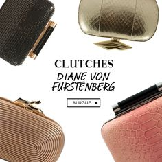 Clutches we love! Alugue DVF na BoBAGS. #alugueldebolsas #clutchDVF #sharingeconomy #luxoacessivel #closetbobags