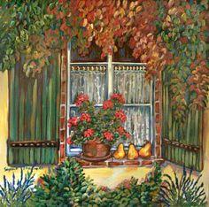 Suzanne Etienne ~ Autumn Shutters