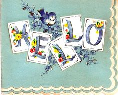 Vintage bluebirds with a note norcross birthday greeting card find this pin and more on bluebirds vintage greeting card m4hsunfo Image collections