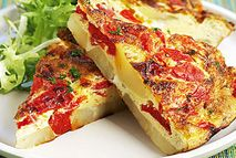 Spanish omelette – Recipes – Slimming World Slimming World Dinners, Slimming World Breakfast, Slimming World Diet, Slimming Eats, Slimming Recipes, Slimming Word, Healthy Eating Recipes, Cooking Recipes, Healthy Pizza