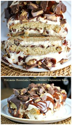 Ultimate Chocolate Peanut Butter Explosion Cake | The Baking ChocolaTess