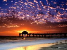 Dear Mother Nature: See this beautiful sunset? Please send them back to Half Moon Bay... we really need them. xxoo Moriah (picture of Redondo Beach CA)