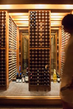 The wine closet at the Four Seasons was depleted throughout the night. (Photo: Danny Ghitis for The New York Times)