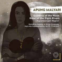 Apung Malyari is a mortal enemy of Aring Sinukuan. She is the keeper/guardian of Mount Pinatubo. Filipino Words, Filipino Art, Filipino Culture, Philippine Mythology, Philippine Art, Tribal Tattoo Designs, Mythological Creatures, Mythical Creatures, Cultura Filipina
