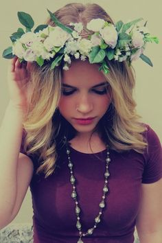 flower crown (: