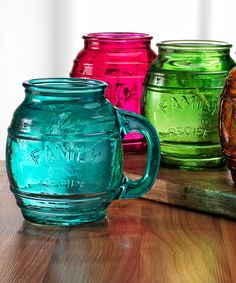 Look what I found on #zulily! Family Recipe Mug Set by Circle Glass #zulilyfinds
