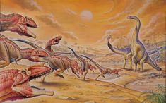 Mapusaurus vs. Argentinosaurus by PaleoPastori.deviantart.com on @DeviantArt