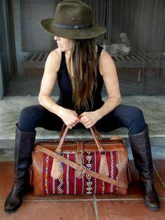 Vintage Kilim & Leather Travel Bag -  OneLove Global Imports