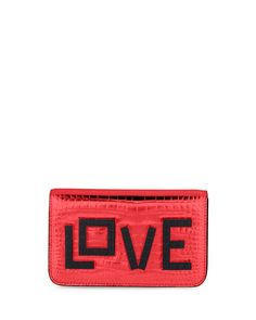 LES PETITS JOUEURS Ginny Black Widow Clutch Bag, Red. #lespetitsjoueurs #bags #leather #clutch #metallic #shoulder bags #lining #hand bags #cotton #