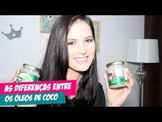 AS DIFERENÇAS ENTRE ÓLEOS DE COCO, QUAL É O MELHOR P/ O CABELO? por Julia Doorman - YouTube