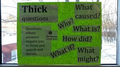 Reederama: Teaching with Thick and Thin Questions
