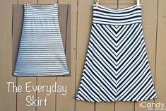 The Everyday Skirt - 1 yard of knit fabric, < 1 hour, and you're good to go.