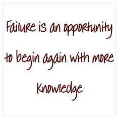 Failure Wall Art Poster
