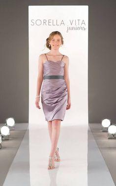 J4000 Juniors Satin Dress by Sorella Vita