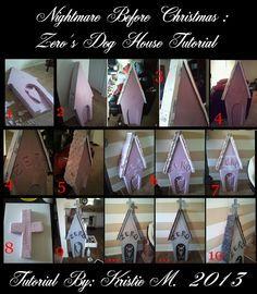 DIY Nightmare Before Christmas Halloween Props: Nightmare Before Christmas: Zero's Dog House Grave Stone Tutorial