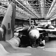 Vulcans in Camera - Avro Vulcans being converted to tankers at Woodford.
