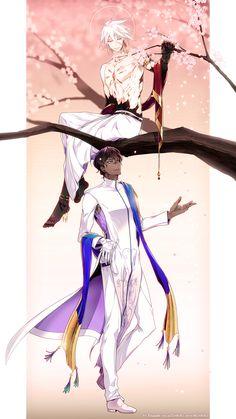 Karna / Arjuna【Fate/Grand Order】 Fantasy Art Men, D Gray Man, Fate Anime Series, Fate Zero, Fate Stay Night, Manga Games, Fire Emblem, Cute Art, Anime Guys
