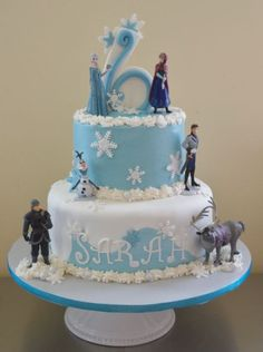 This cake was Buttercream with Fondant accents ~ Frozen figures are not fondant and were provided by the client. Description from cakesdecor.com. I searched for this on bing.com/images