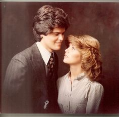 Donny Osmond and bride Debbie- young love that has lasted 34 years!