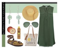 """Saturday at the Flea Market"" by avagoldworks on Polyvore featuring Splendid, Birkenstock, Anthropologie, Forever 21, Ray-Ban, SONOMA Goods for Life and avagoldworks"