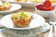 Омлет в картофельных гнездах