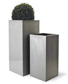 $299 Tall Square Planters - Fiberglass (indoor/outdoor) - great for pillars - @ puremodern.com