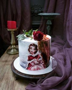 russian-cakes by Elena Gnut Gorgeous Cakes, Pretty Cakes, Cute Cakes, Amazing Cakes, Crazy Cakes, Fancy Cakes, Kreative Snacks, Fantasy Cake, Hand Painted Cakes