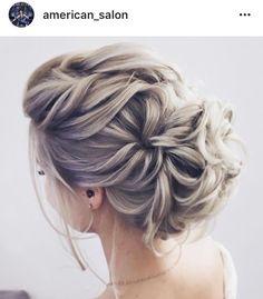 Bridal Hair Updo, Bridal Hair And Makeup, Hair Makeup, Fancy Hairstyles, Bride Hairstyles, Medium Hair Styles, Long Hair Styles, Love Hair, Bridesmaid Hair