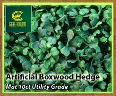 Artificial Boxwood Hedge Mat Utility Grade 10 count box