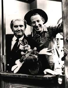 Captain Kangaroo with Mr. Greenjeans, Moose and Bunny Rabbit-my favorite show as a child