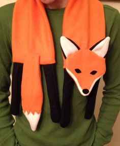 (9) Name: 'Sewing : Fox Scarf PDF Pattern