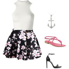 cute...dress it up or down by jahniece32 on Polyvore featuring polyvore fashion style Versace Yves Saint Laurent Michael Kors Carolina Glamour Collection