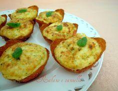 Cestini di ricotta: ricetta finger food. Un piatto che potete presentare a tavola come secondo sfizioso oppure come antipasto, come preferite.