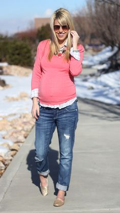 maternity comfort chic...love the shoes