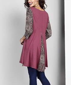 This Rose Contrast Swing Tunic is perfect! #zulilyfinds
