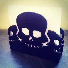 Já temos um porta guardanapos #caveira #skull