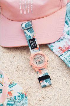 BABY-G Roxy collaboration watch replaceable flower pattern & pink strap Baby G Shock Watches, Casio G Shock Watches, Watches For Men, Men's Watches, G Watch, Pink Watch, Watch Fan, Burberry Men, Gucci Men