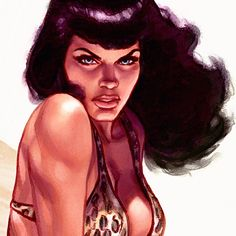 Detail from a previously posted Bettie Page piece. #bettie #bettiepage #pinup…