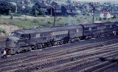 Pennsylvania Railroad Baldwin BH50 Class Centipede unit #5821 in Altoona, Pennsylvania sometime during the 1950's