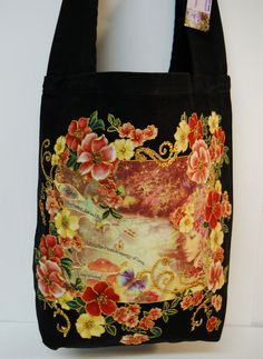 Exclusive  Canvas Fantasy BlackTote Custom Hand by paulagsell,