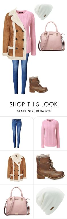 """A Chill Morning"" by benjiedaisy ❤ liked on Polyvore featuring WithChic, Lands' End, Topshop, Steve Madden, Coal, Winter, 2017 and commute"